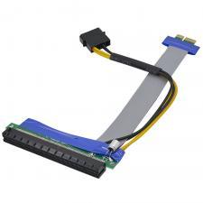 Адаптер - удлинитель PCI-E 1Х - 16Х с доп. питанием