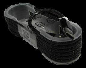 """USB Кабель """"Mi-Digit"""" USB Type C в нейлоновой оплетке, 1,5 метра, металлические коннекторы Черный"""