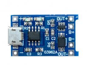 Модуль заряда 18650 аккумулятора