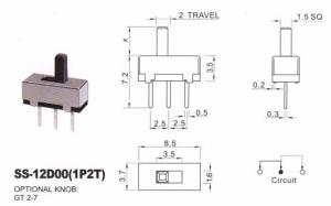 Переключатель SS12D00 (1P2T)
