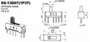 Переключатель SS13D07 (1P3T)