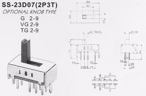 Переключатель SS23D07 (2P3T)