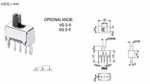 Переключатель SS12D07 (1P2T)